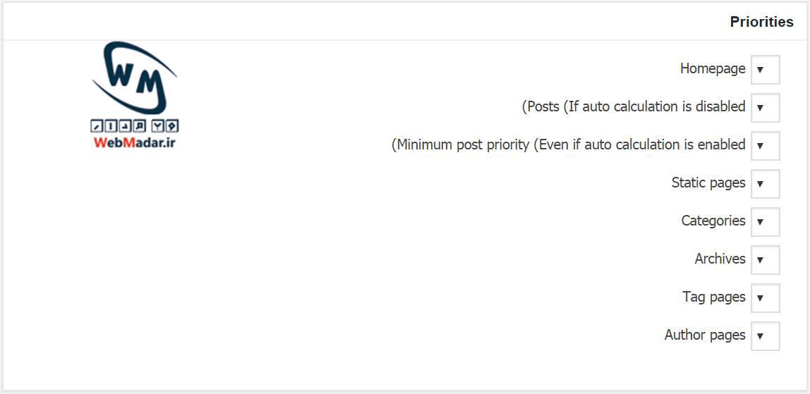 تنظیمات google xml sitemap