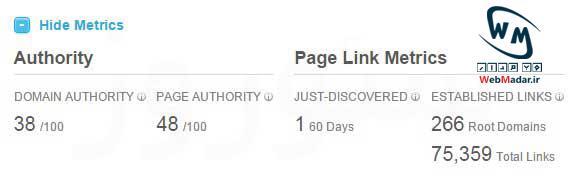 الگوریتم Page Authority